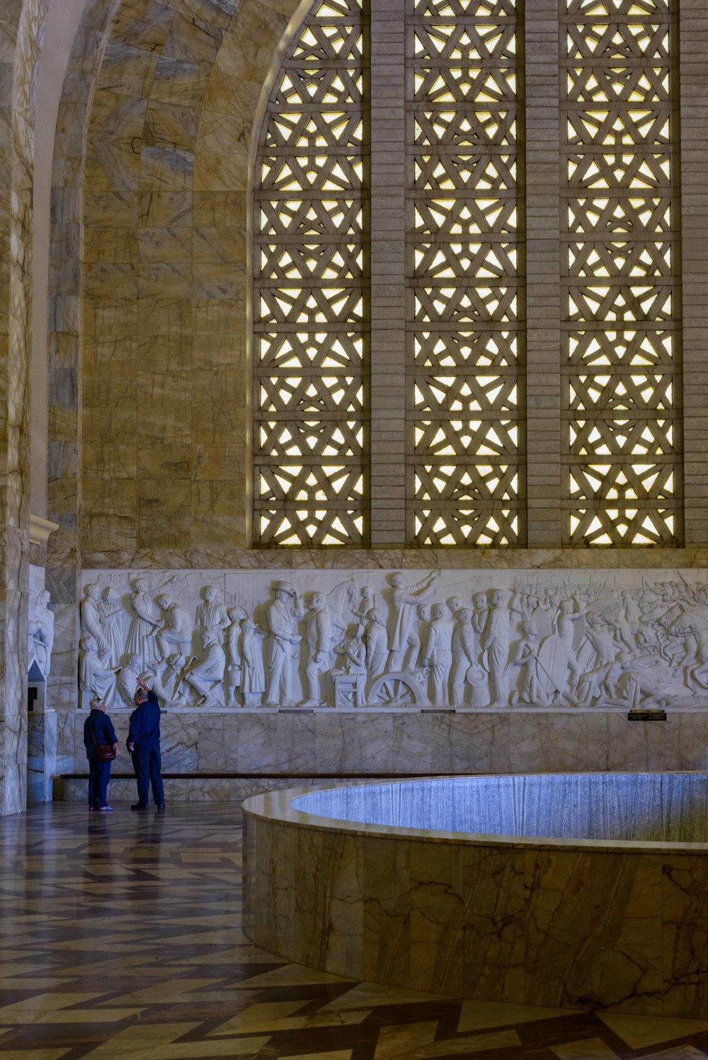 It is the biggest marble frieze in the world.