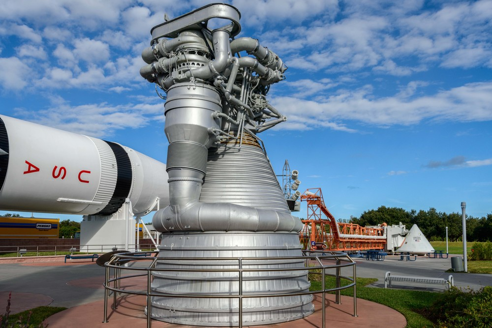 F1-Engine, the most powerful liquid-fueled rocket engine ever produced.