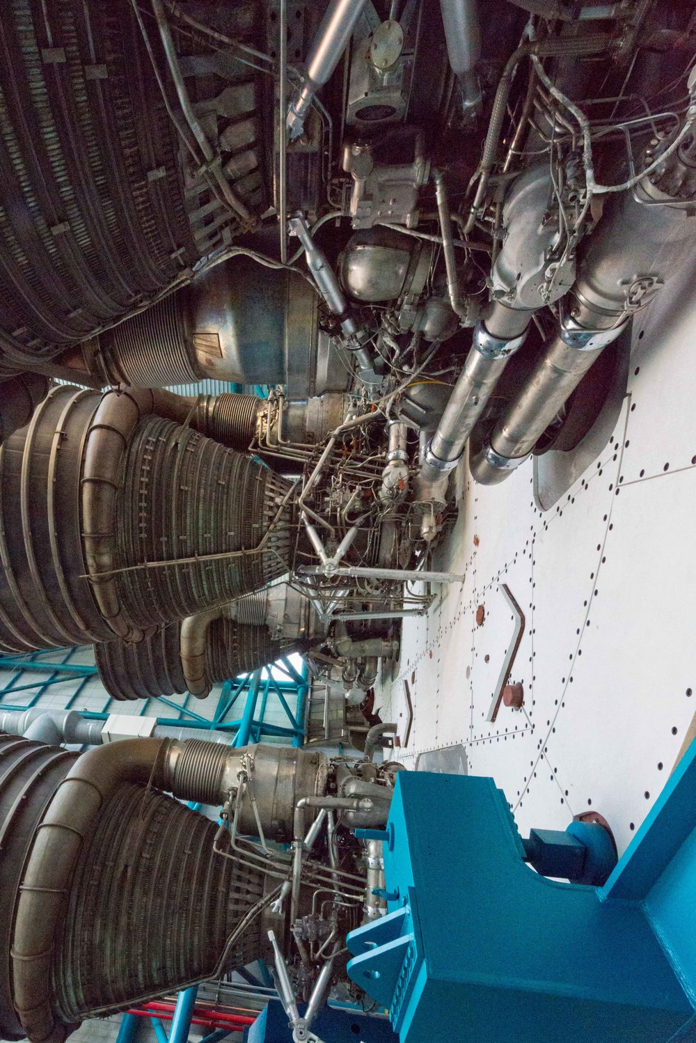 F1 engines of the Saturn V rocket.
