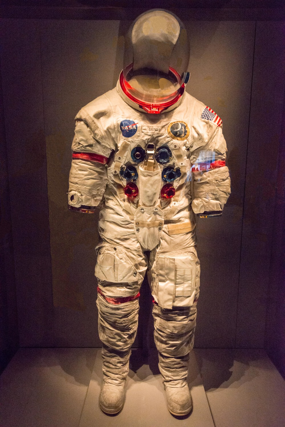 Alan Shepard's custom-made original A7-L spacesuit from the Apollo program.