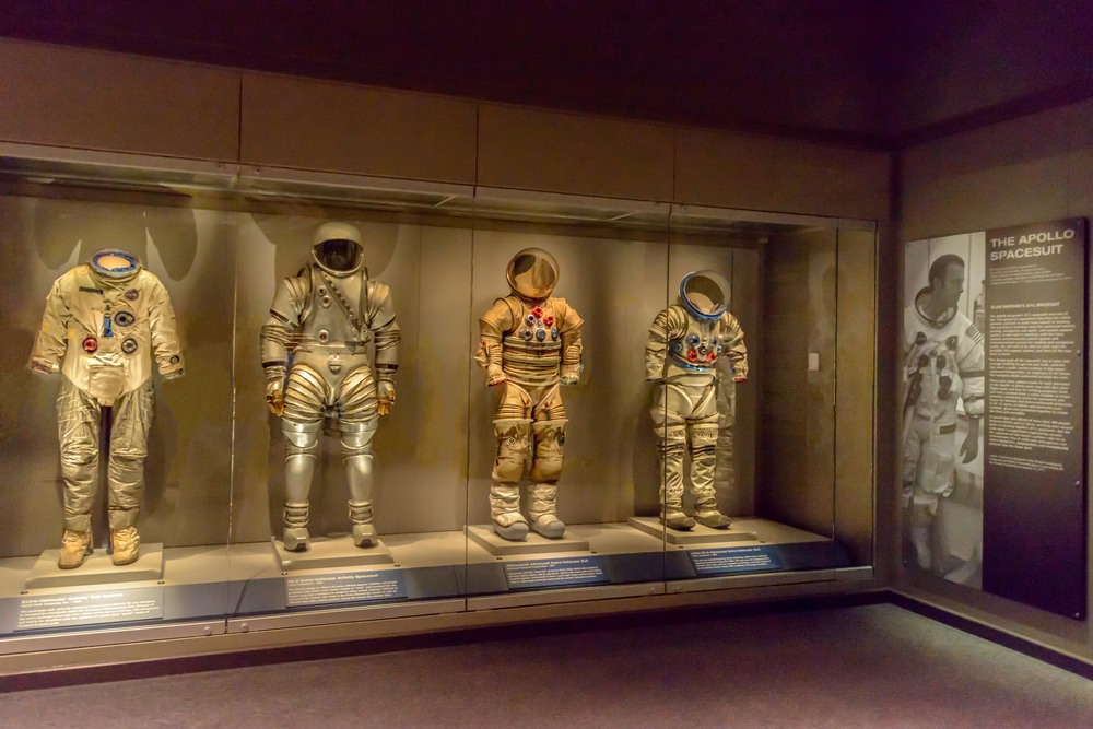 Prototype spacesuits during the Apollo program.