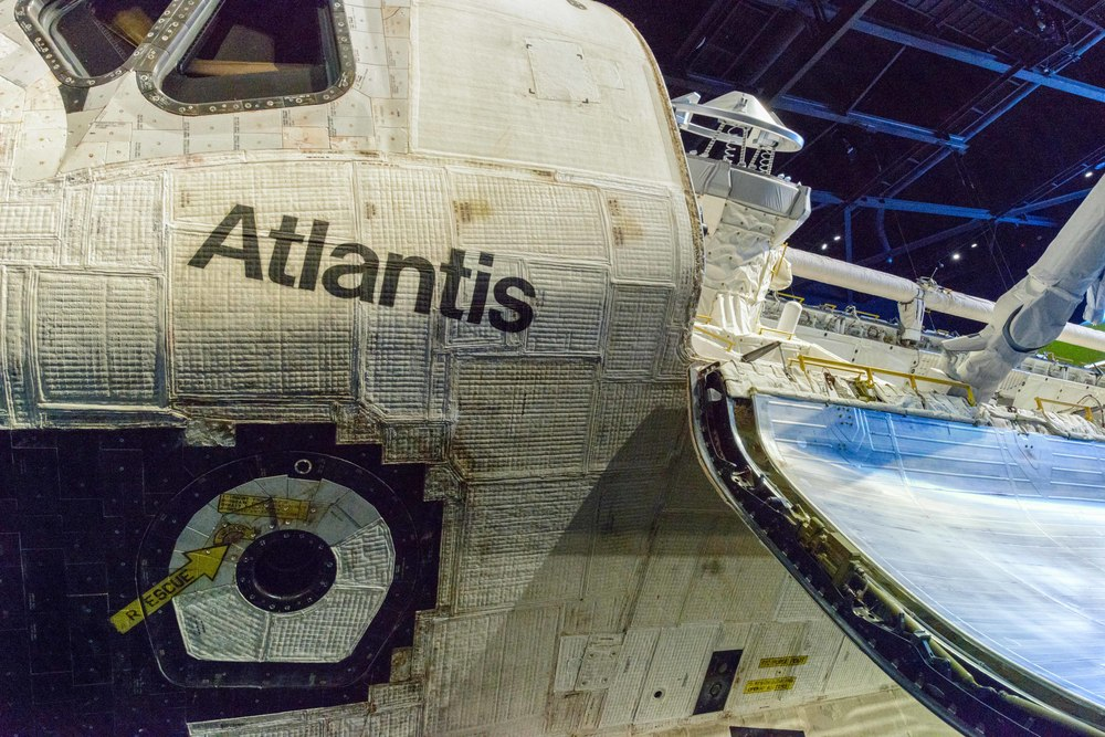 Space Shuttle Atlantis, Kennedy Space Center, Florida.