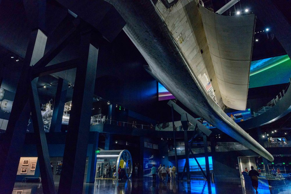 "Exhibition ""Space Shuttle Atlantis"", Kennedy Space Center, Florida."