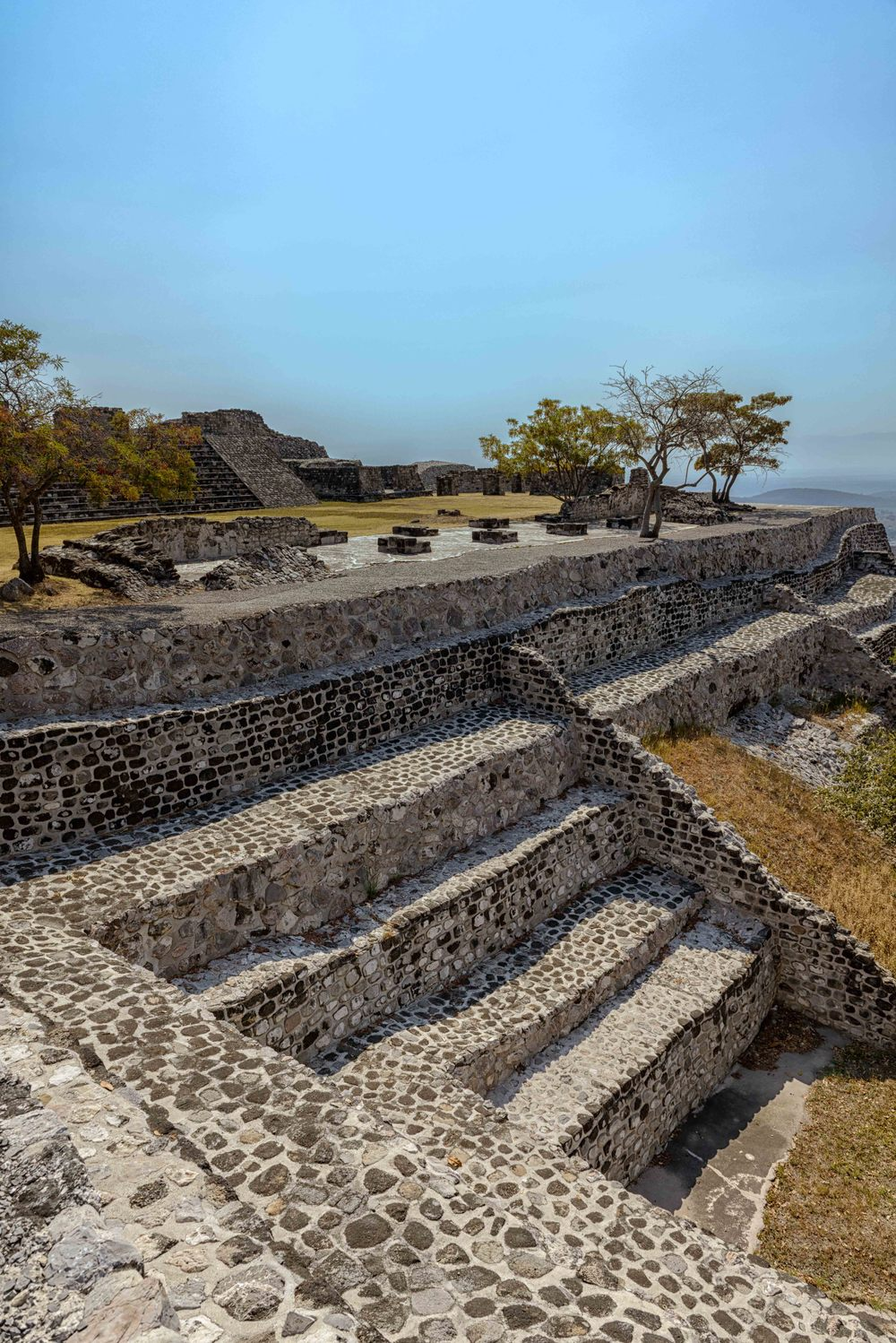 Porches and stairs at Xochicalco.