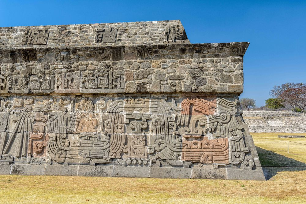 Temple of the Feathered Serpent at Xochicalco.