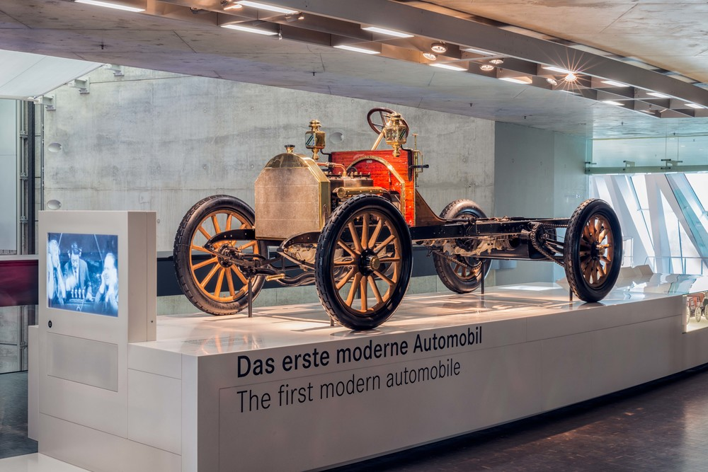 The first modern automobile.