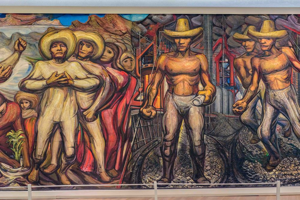 The Land, like the Water and the Industry, Belong to Us, David Alfaro Siqueiros 1959.
