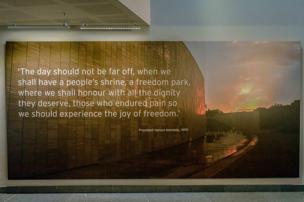 Nelson Mandela speech in 1999, after the Freedom Park was opened in 2007.