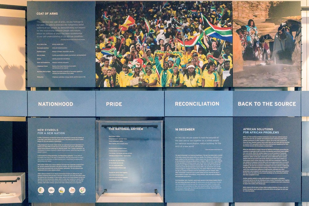 "Exhibition ""Nation Building an Continent Building"" in the //hapo Museum."