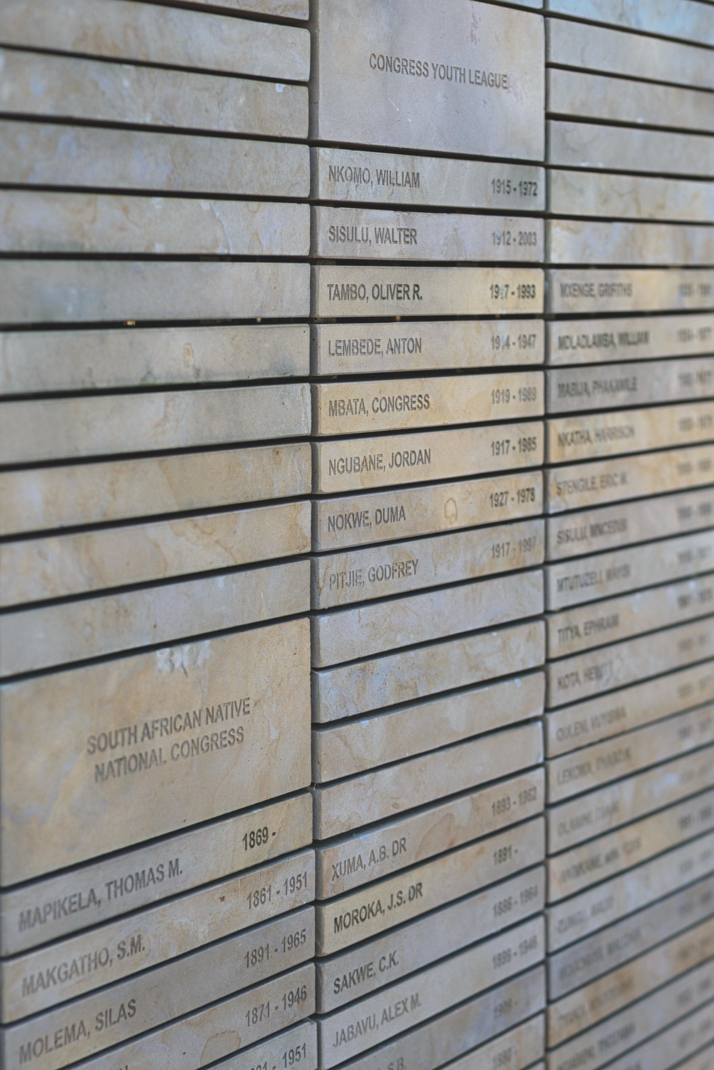 Wall of Names, in total 697 meters in length. To date approx. 75,000 names have been inscribed.
