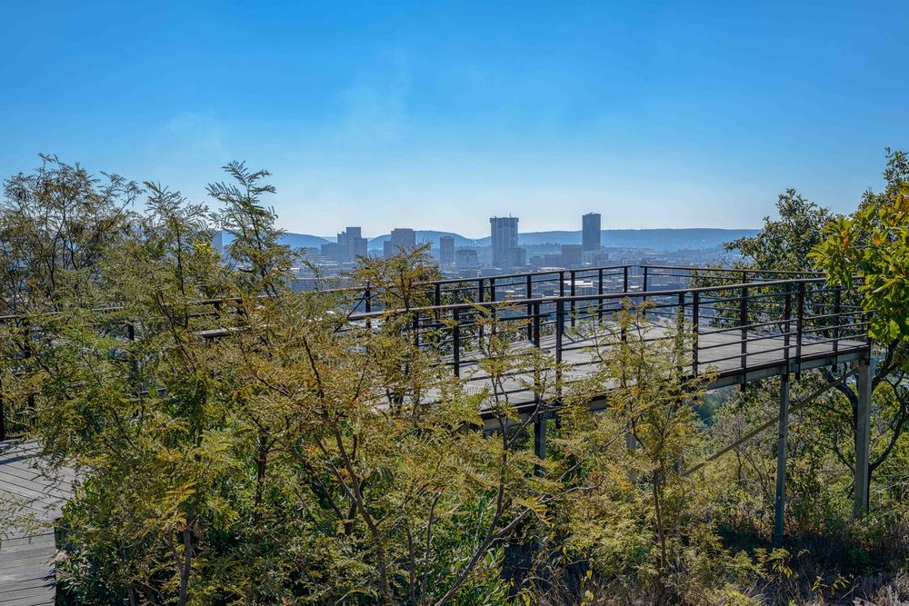 One of many platforms overlooking Pretoria incl. the Union Buildings.