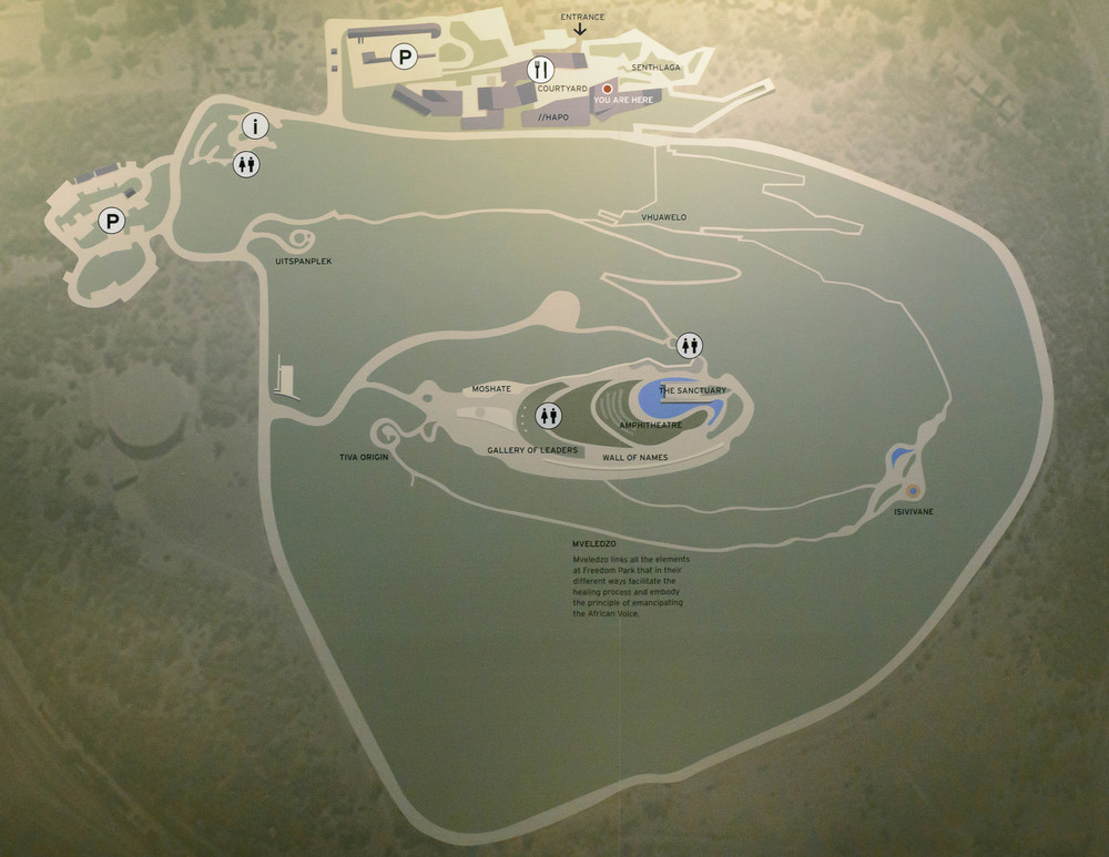 Map of the Freedom Park.