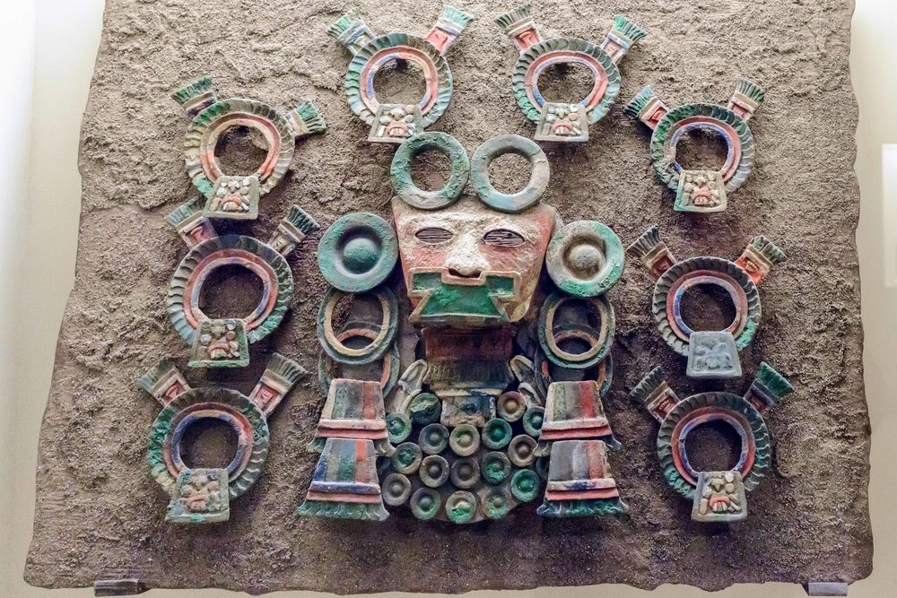 "These objects are called ""Theater incensarios"" because we are not sure precisely how they were used. It is important to note the use of polychrome painting characteristic of both Teotihuacan spaces and objects."