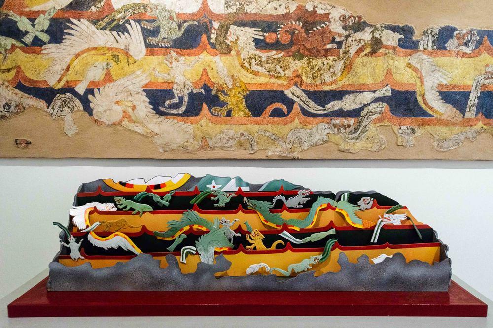 Fragment of Mural Mythological Animals.