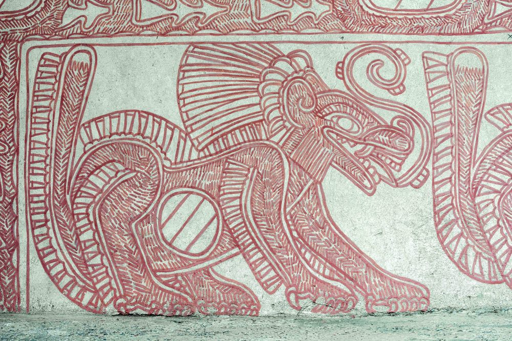 Murals in Atetelco.