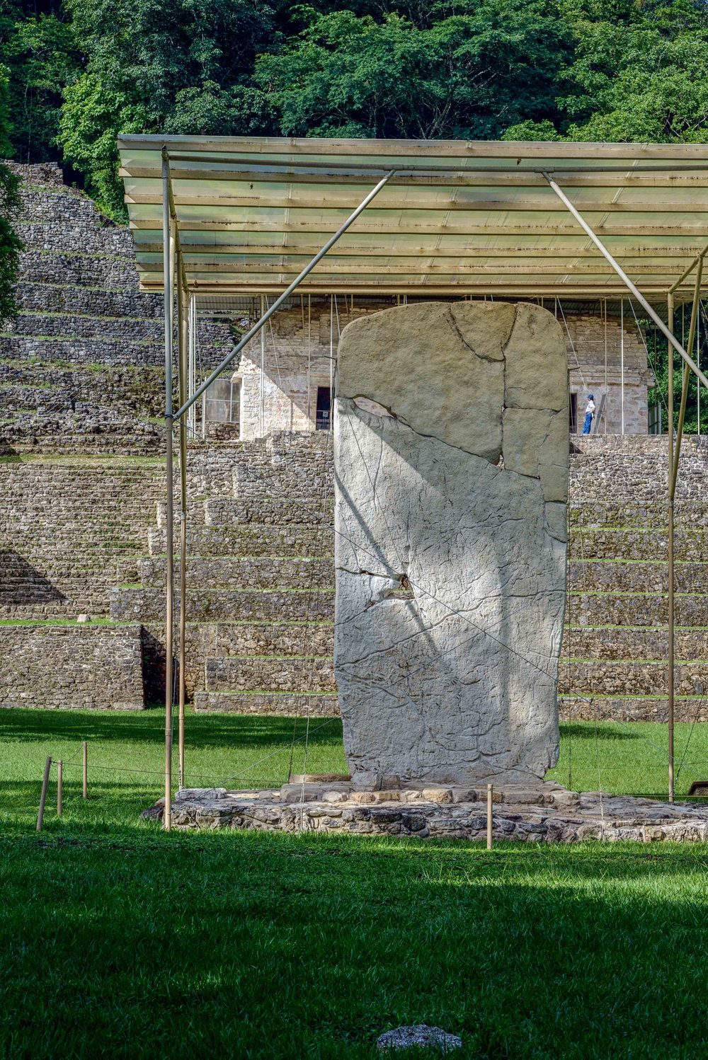 In the center of the Great Plaza is stele No. 1 being the archaeological site's most important one.