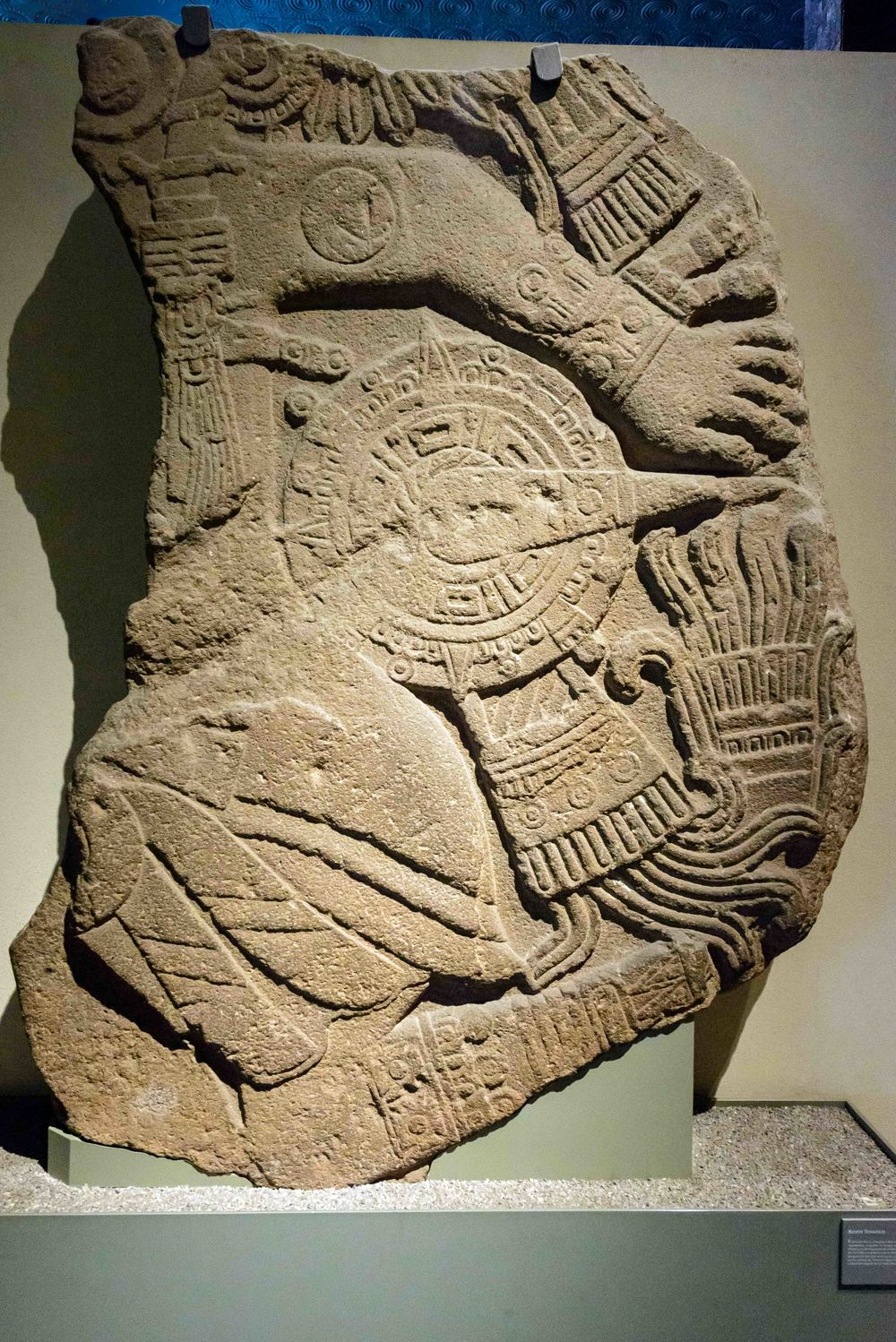 Relief of the death of the sun. The deeper meaning of fear, the end of the solar cycle, is expressed in this, unfortunately incomplete sculptural fragment, where you can see the sun, resembling a warrior who wears stellar sandals.