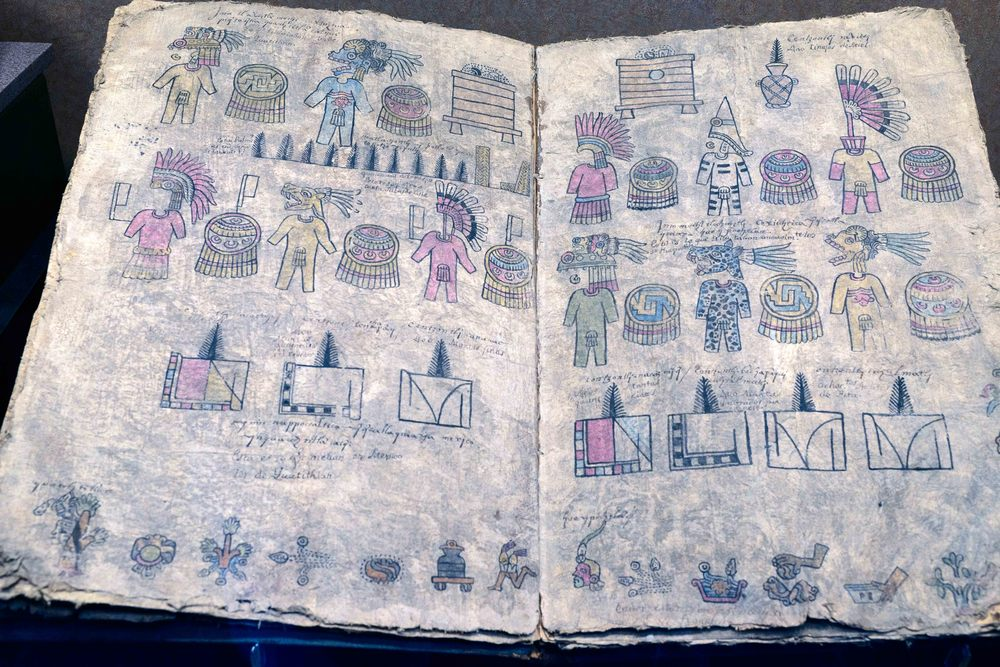 Replica of an Aztec codex.
