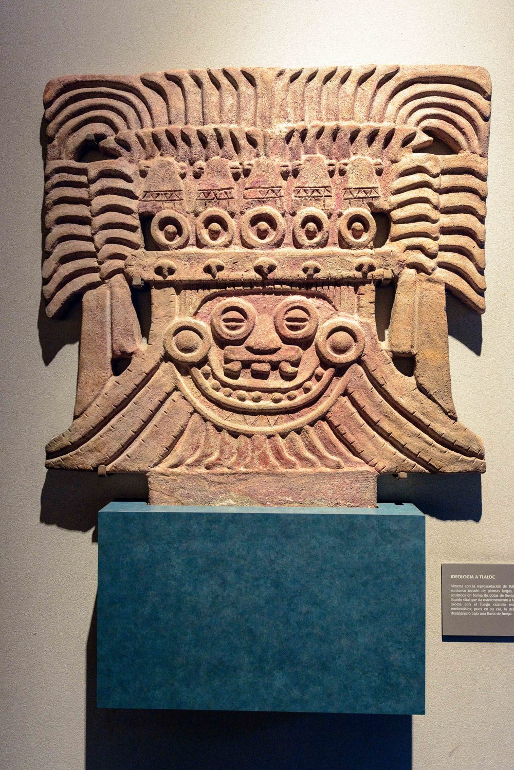 Tlaloc was an important deity in Aztec religion; a god of rain, fertility, and water.