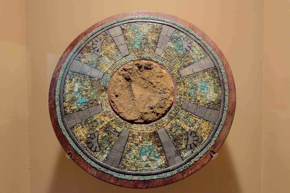 Solar Disk, Tula. This work is known as a sun disc. The solar disc between the Toltecs were linked with the war, as they were part of the military uniform.