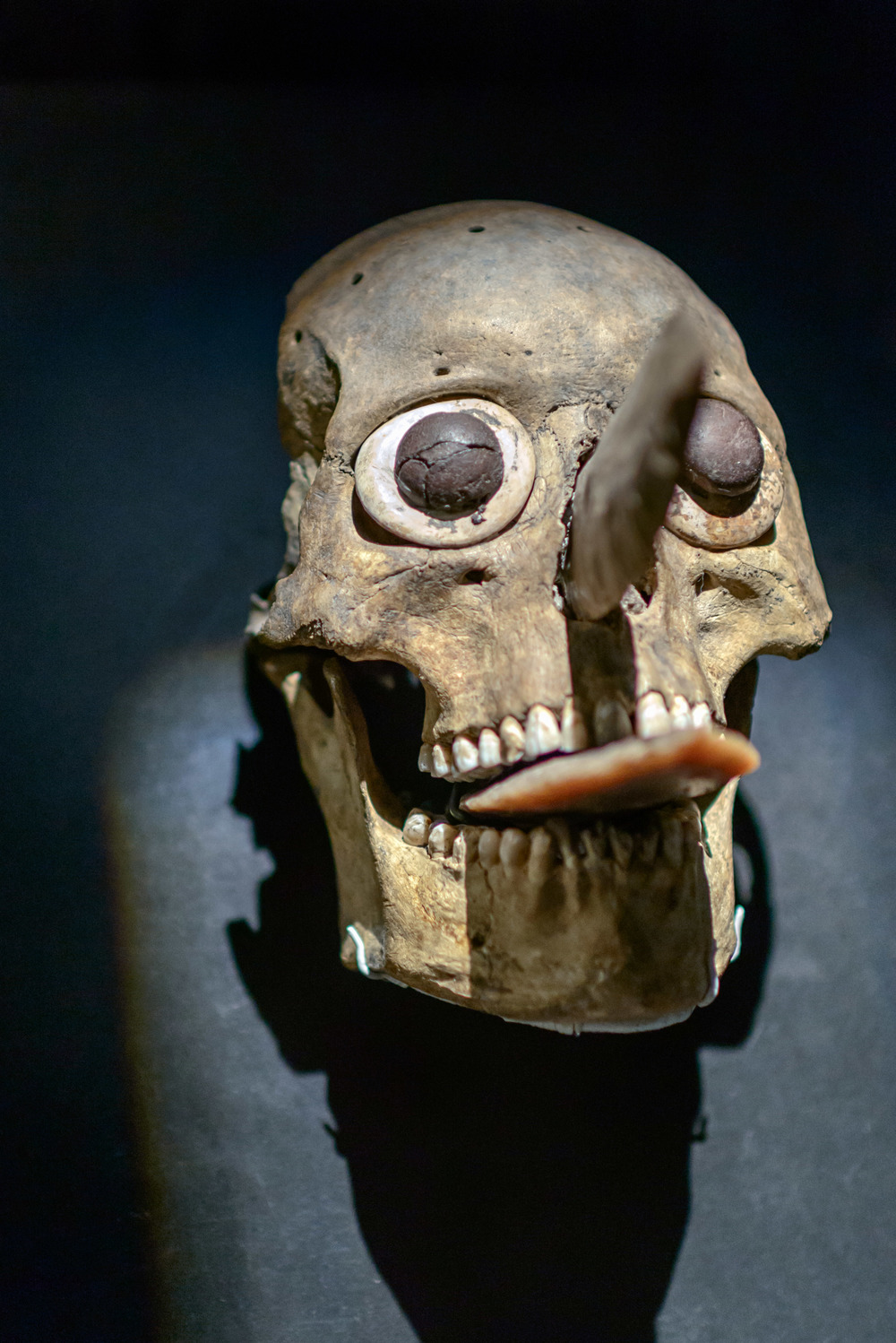 Skull Mask, funerary offering. Templo Mayor Museum, Mexico City.
