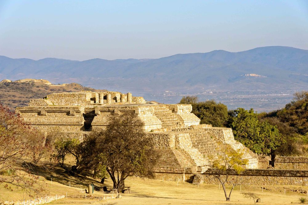 Building IV close to the North Platform, Monte Alban,  Oaxaca, Mexico.
