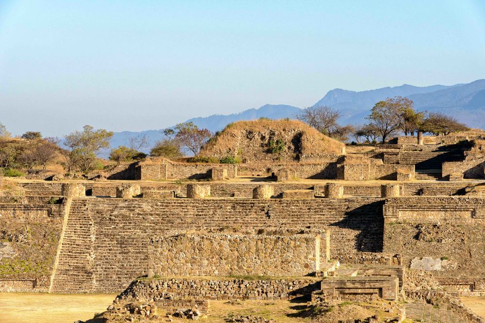 The North Platform, Monte Alban,  Oaxaca, Mexico.