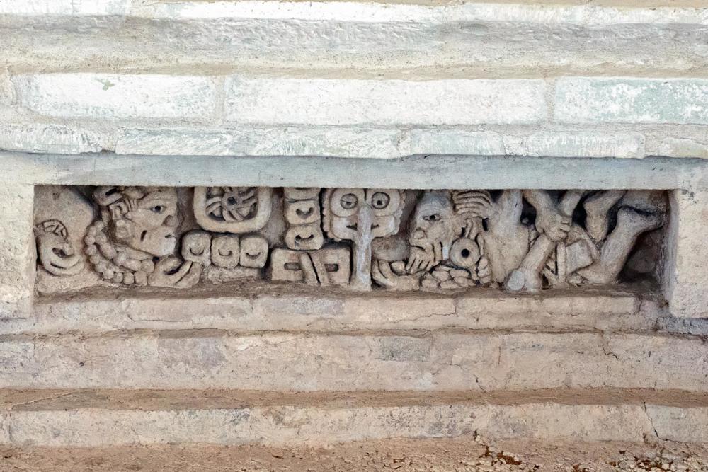 Lintelof Tomb 1 of  Structure 195  .  Lambityeco, Oaxaca.