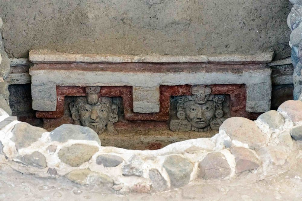 Relief of Tomb 1 Lintel of Structure 195. Lambityeco, Oaxaca.