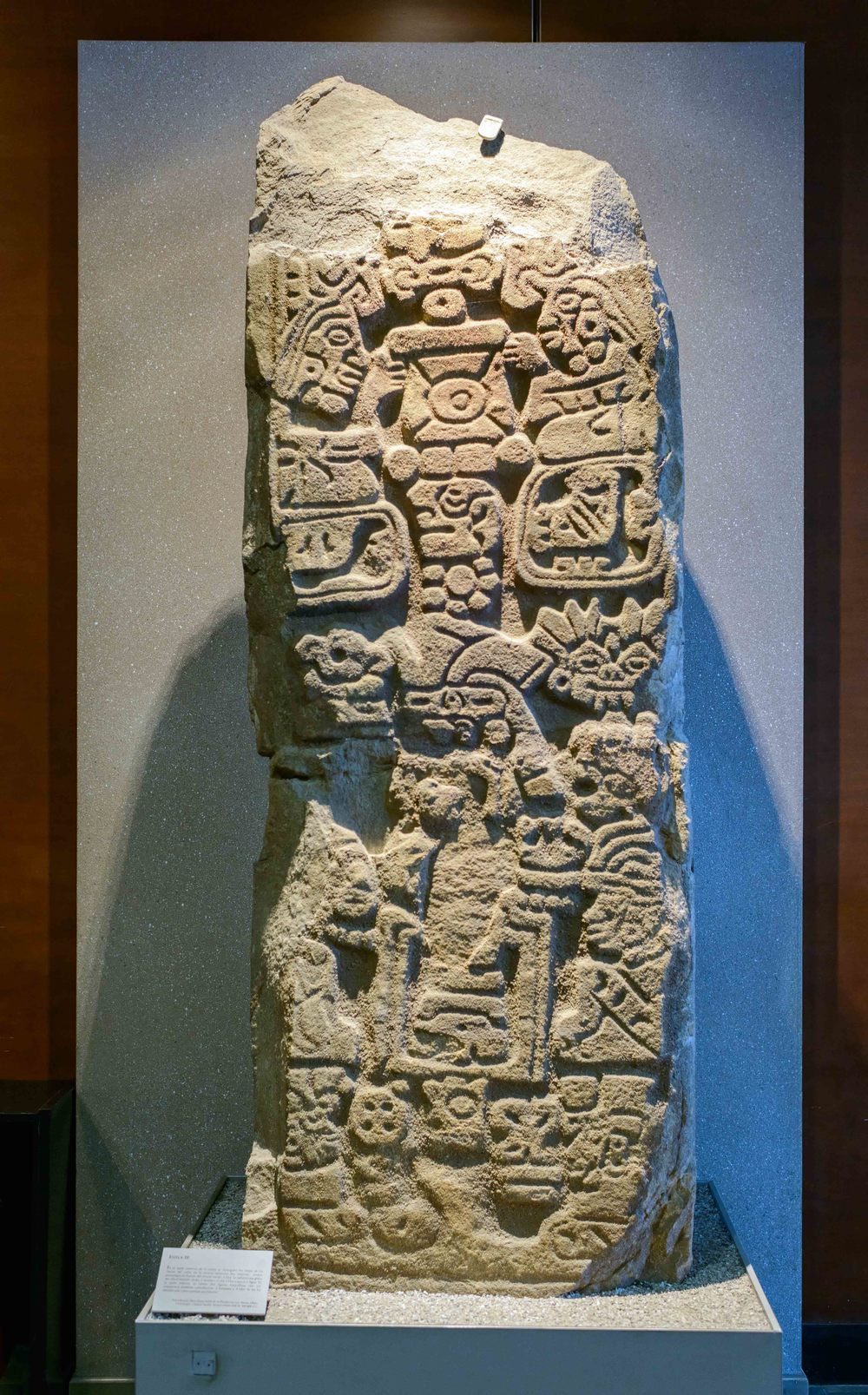 Stele 10, Wall basal north of the south platform, Monte Alban, Mexico.