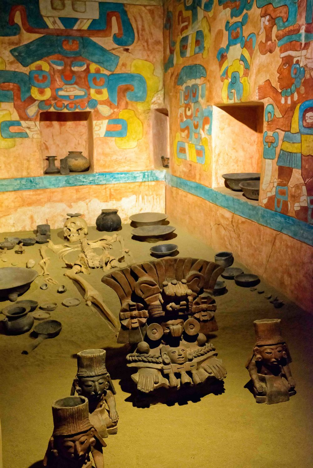 Replica of Tomb 104, Monte Alban, Mexico.