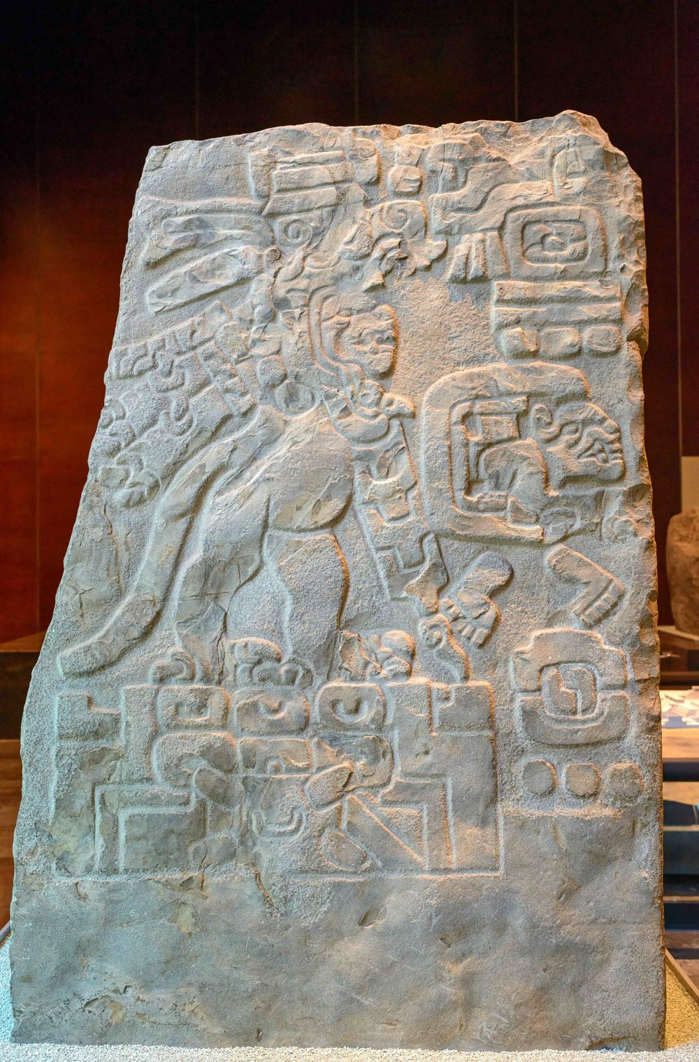 "Stele with ""propagandas of power"", Monte Alban, Mexico."