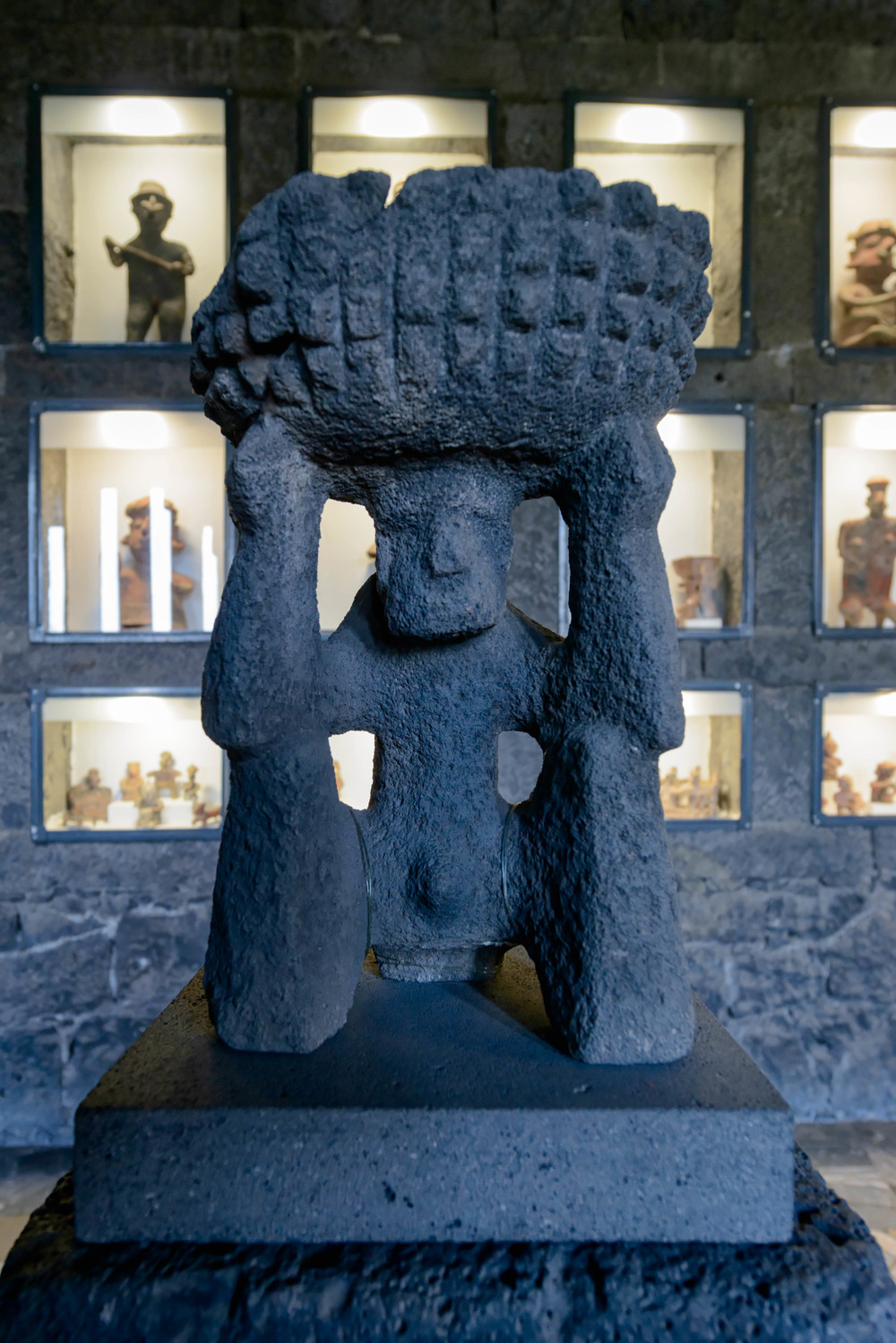 Collections at Anahuacalli Museum in Mexico City.