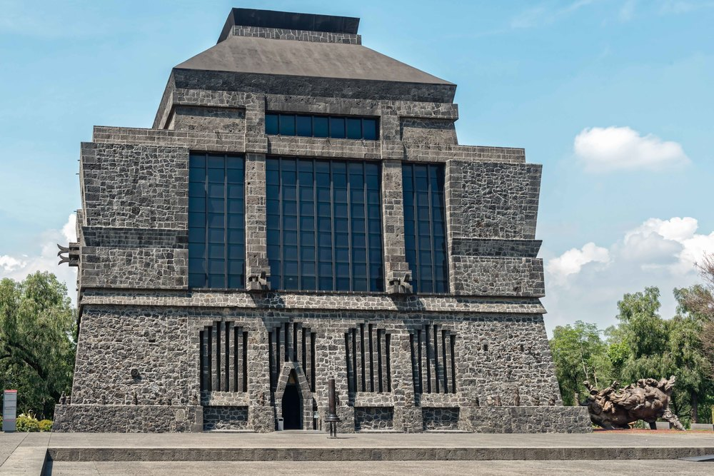 Front view of the Anahuacalli Museum in Mexico City.
