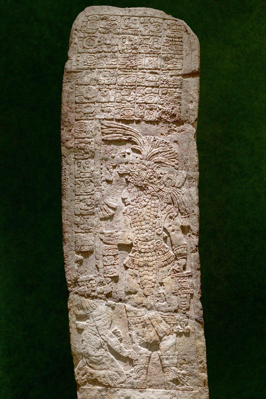 Stele 18 of Yaxchilan, Chiapas.
