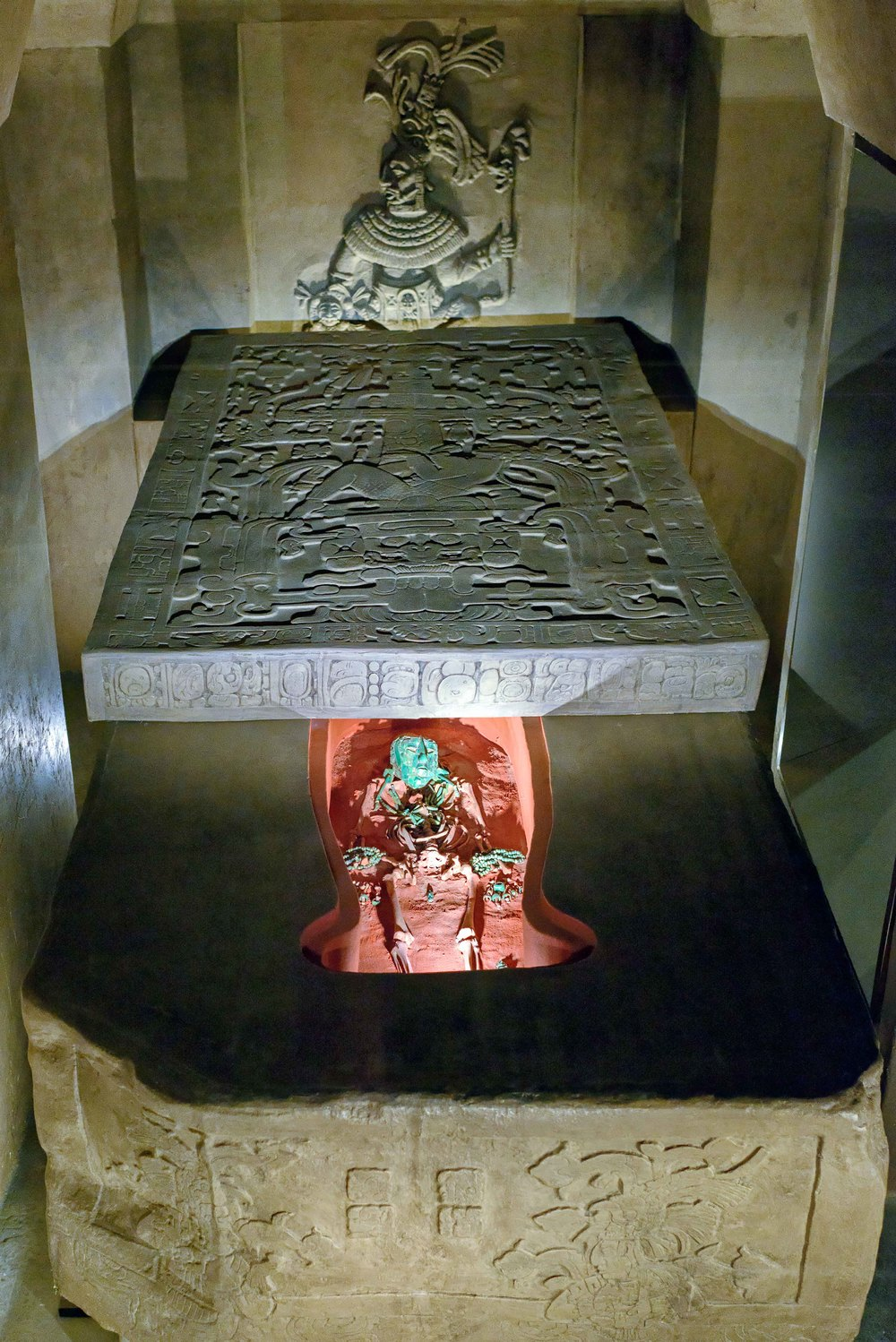 The monolithic sarcophagus of Pakal the Great.