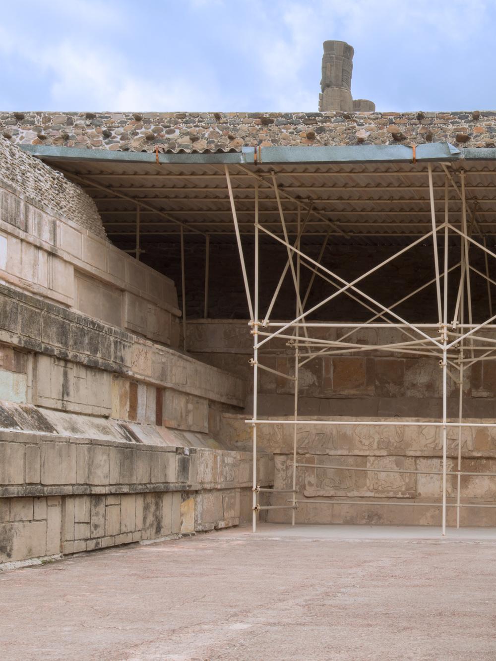 View from the Palacio de Quetzalcoatl.