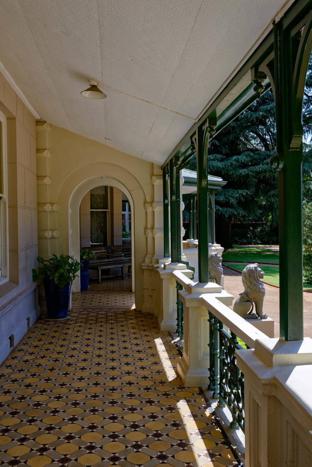 Terrace of Melrose House, Pretoria.