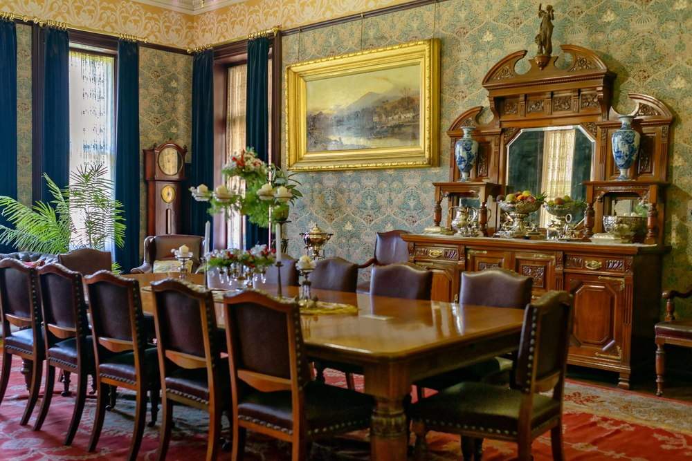 Dining room in Melrose House, Pretoria.