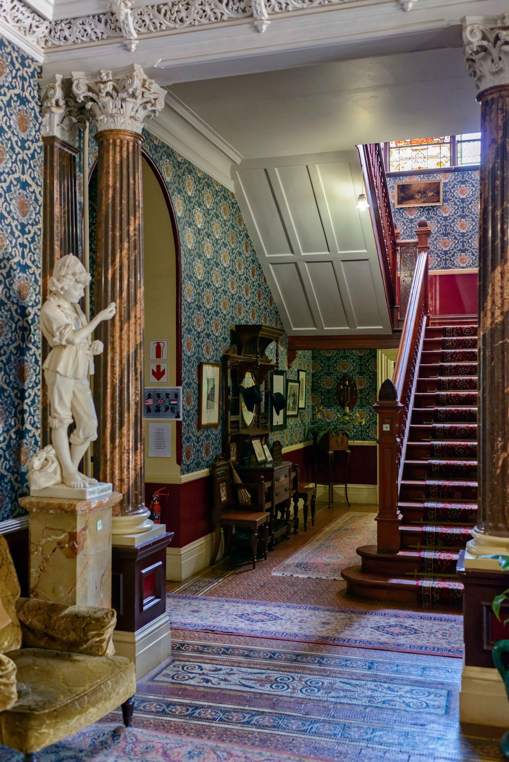 The main staircase in Melrose House, Pretoria.