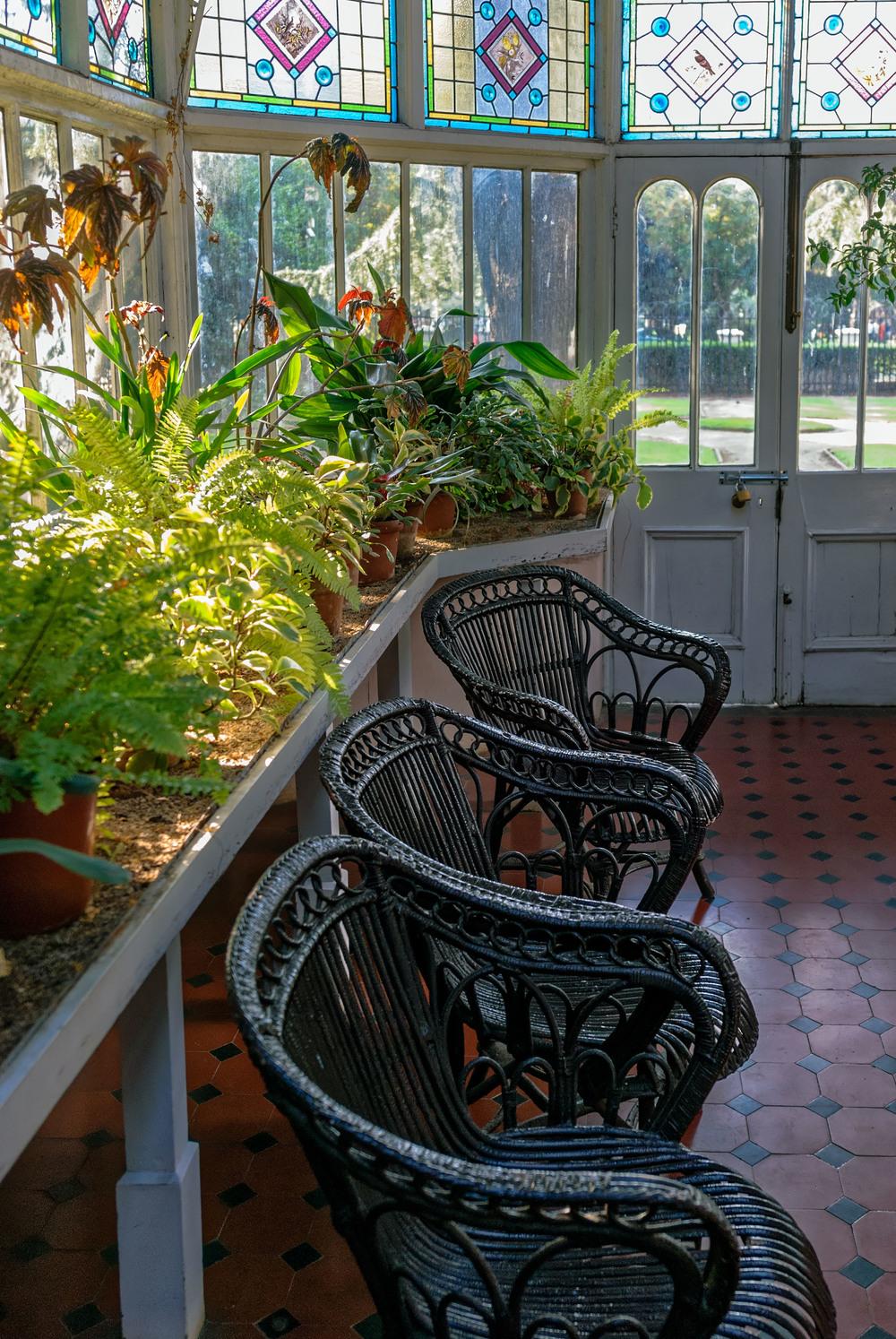 Winter Garden in Melrose House, Pretoria.