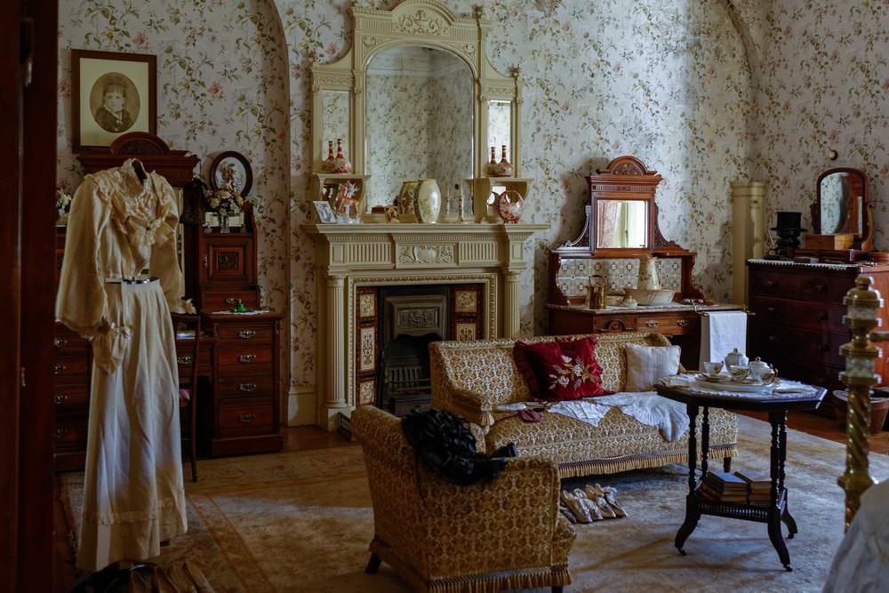Master bedroom in Melrose House, Pretoria.