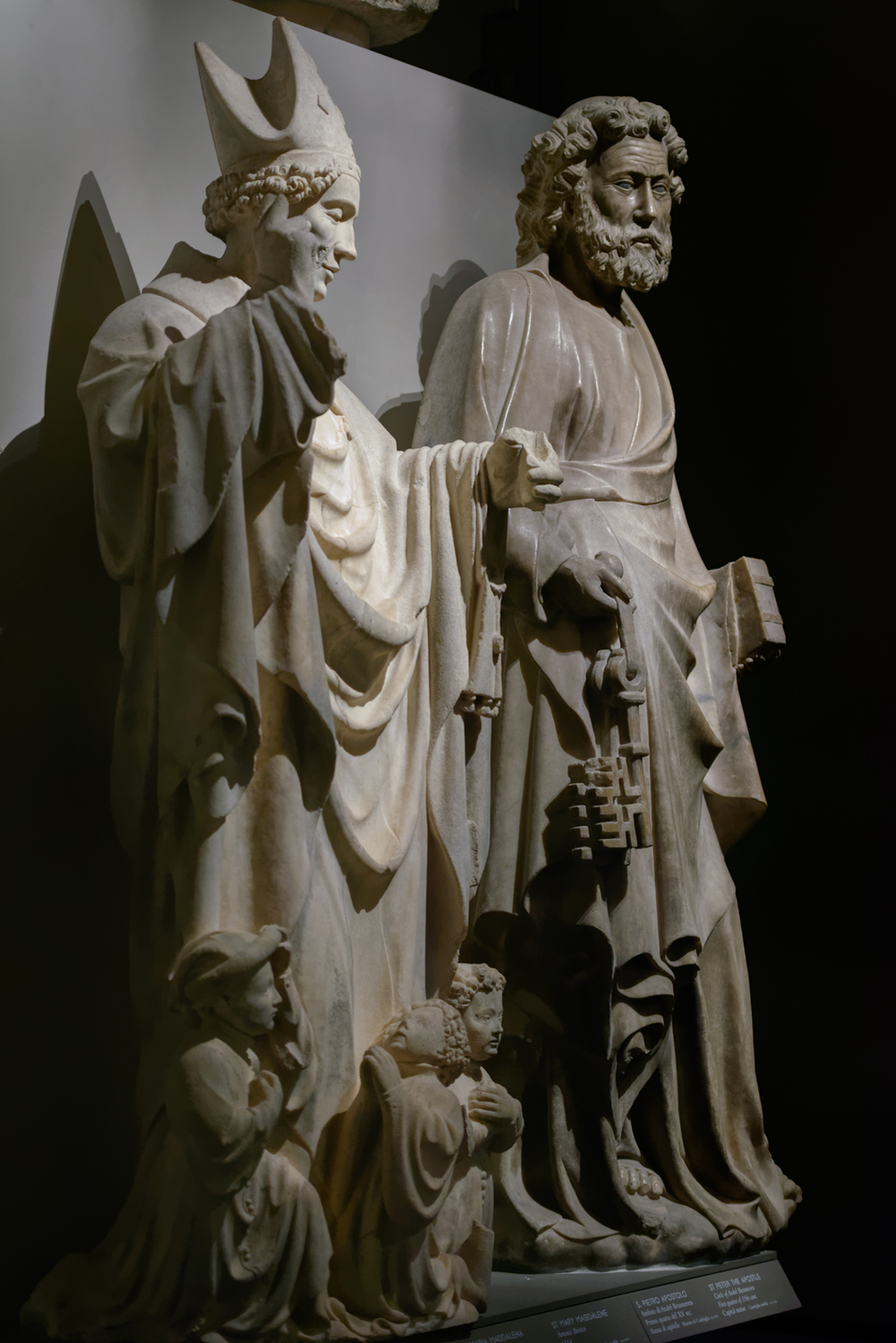 In front Saint Babylas and in the back Saint Peter the Apostle.  Duomo di Milano, Museum.