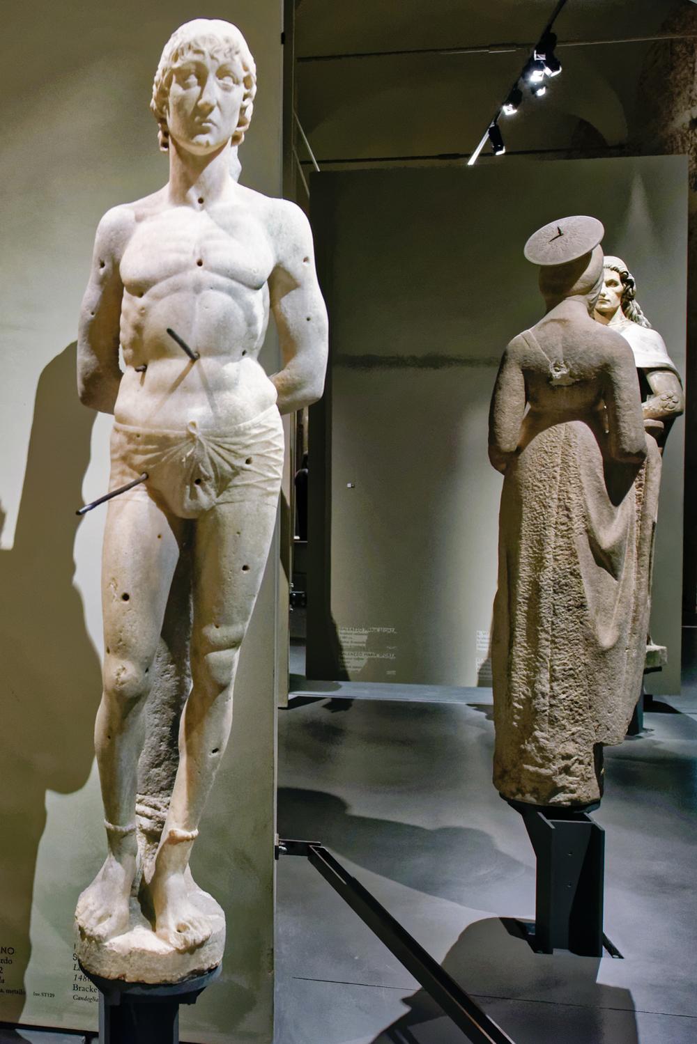 St. Sebastian , Lombard sculptor, 1480-1482. Bracket statue. Duomo di Milano, Museum.
