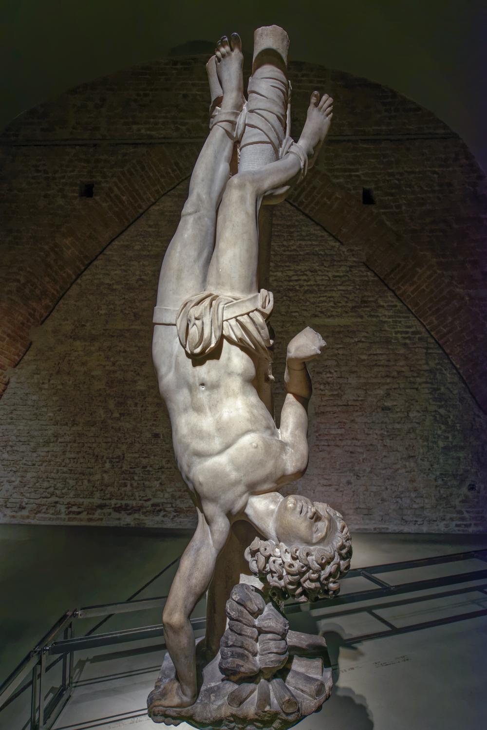 St. Agapitus , Lombard sculptor, 1605-1607. Bracket statue. Duomo di Milano, Museum.