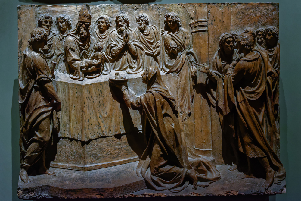 Christ. Giovan Andrea Biffi, 16th century. Model for panel on choir-screen border. Duomo di Milano, Museum.