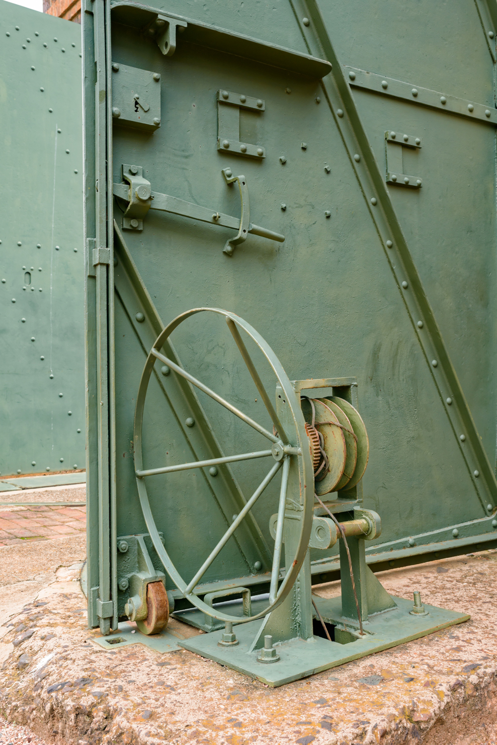 Pretoria Fort Klapperkop. Details of the fort entrance door.