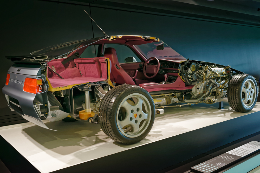 A technology cross-section of Porsche 968.