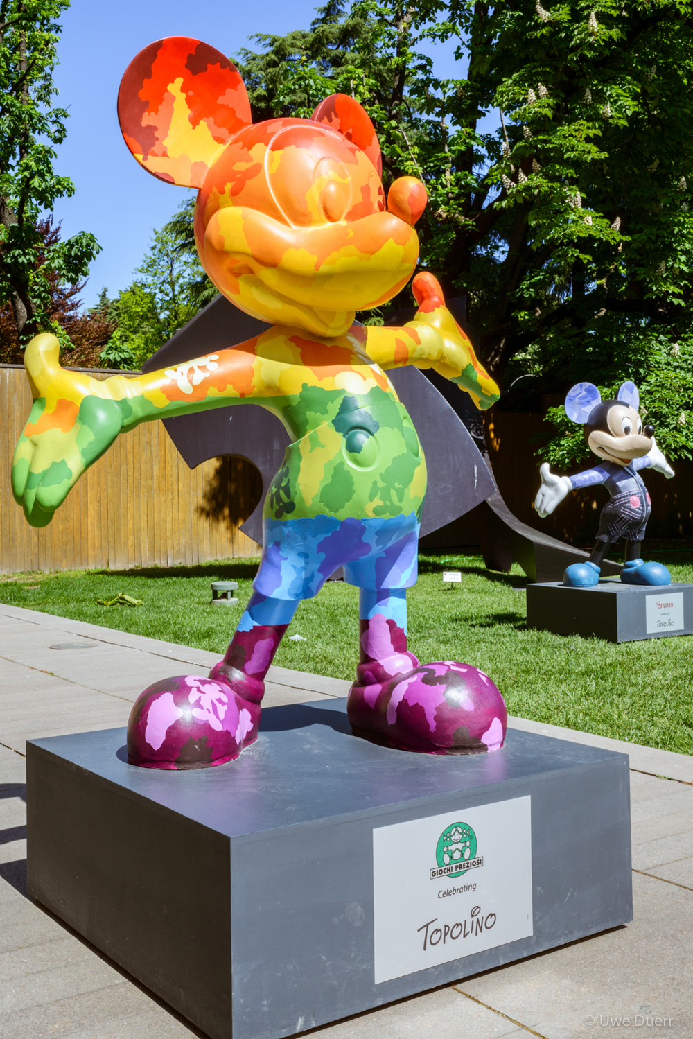 "Exhibition  ""TOPOLINO E L'ITALIA"" , 22 APR - 15 MAY 2016.  The exhibition celebrates the long time connection between the iconic Disney character and Italy. The storytelling, the creativity and the excellent Italian design will be shown in the open-air exhibition. The colors and the design of the works will enchant the visitors."