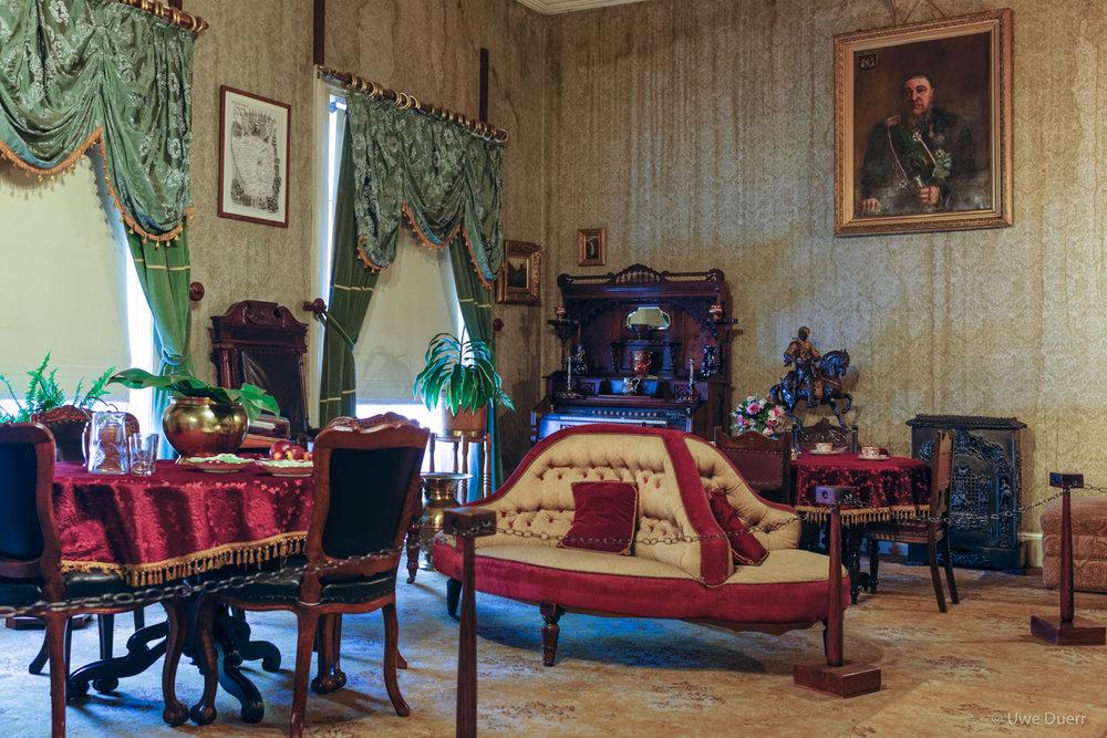 Main living room in Paul Kruger Museum, Pretoria.
